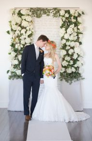 Modern + Preppy Wedding with Navy Blue and Tangerine