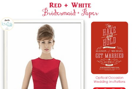 Red and White Wedding   Bridesmaid And Paper