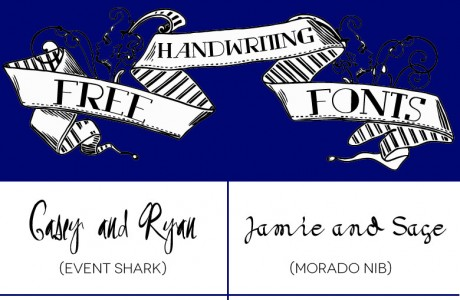 18 Free Handwriting Fonts for Your DIY Wedding Invitations