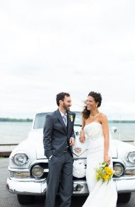 Rustic Chic Yellow and Navy Wedding