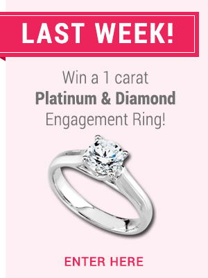 Enter to win a platinum and diamond engagement ring
