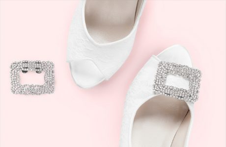 Giveaway:  Win Sparkly Shoe Clips for your Wedding!