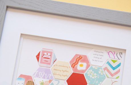 DIY | Punched Wedding Card Keepsake Frame