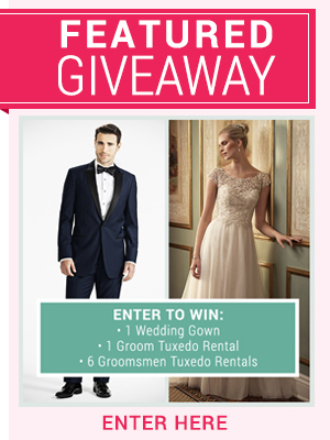 Enter to win a Wedding Dress and tuxedo Giveaway